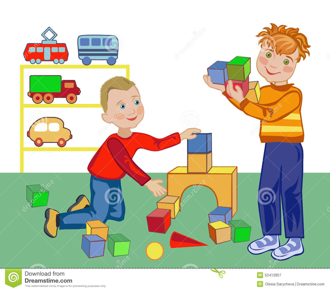 Child Building Stock Vector - Image: 52412857