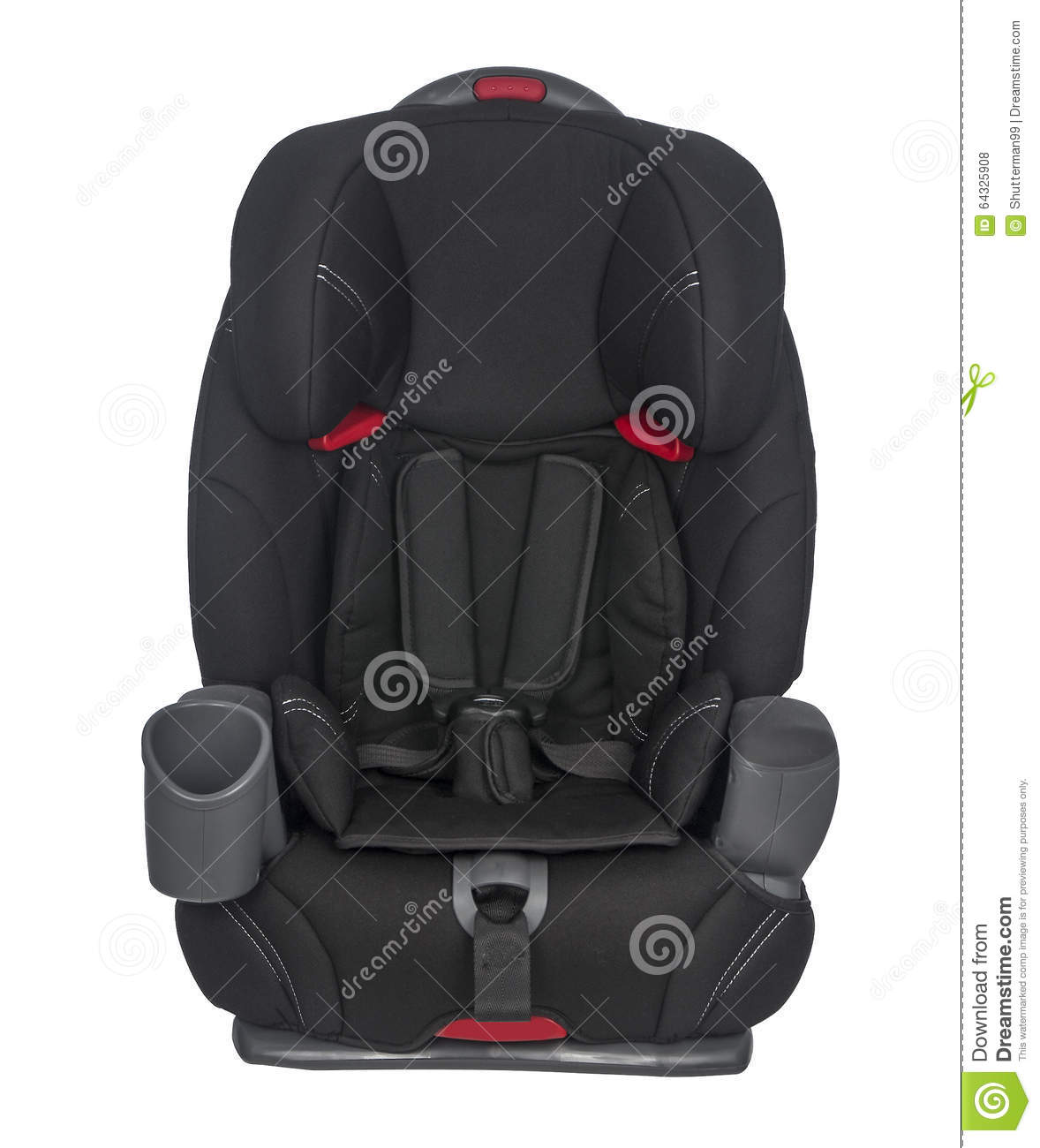 Child Car Seat On A White Background Stock Photo - Image of ...