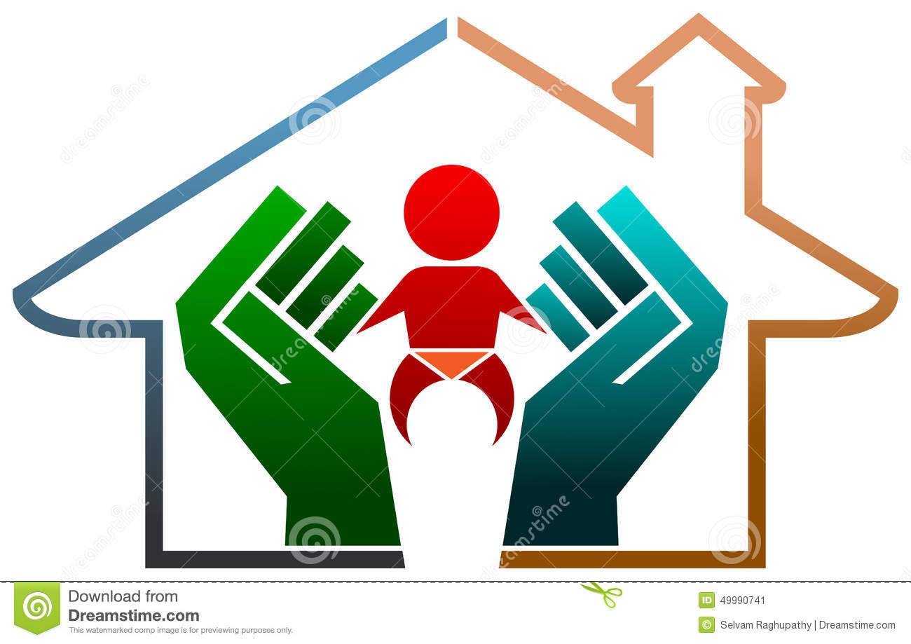 Safe Home Child Protection Parental Care Royalty-Free