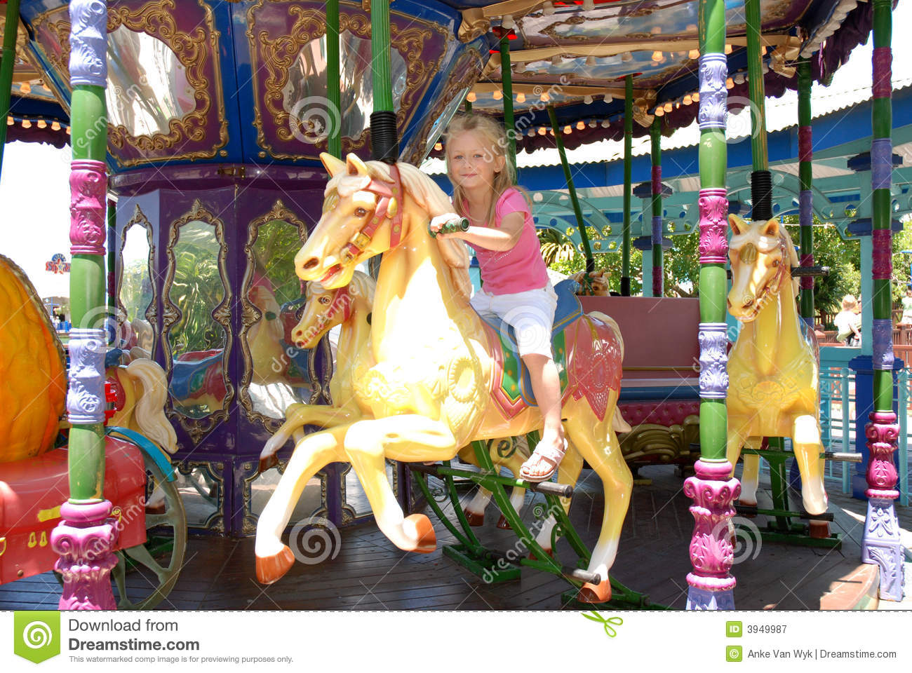 Child On Carousel Royalty Free Stock Photography - Image ...