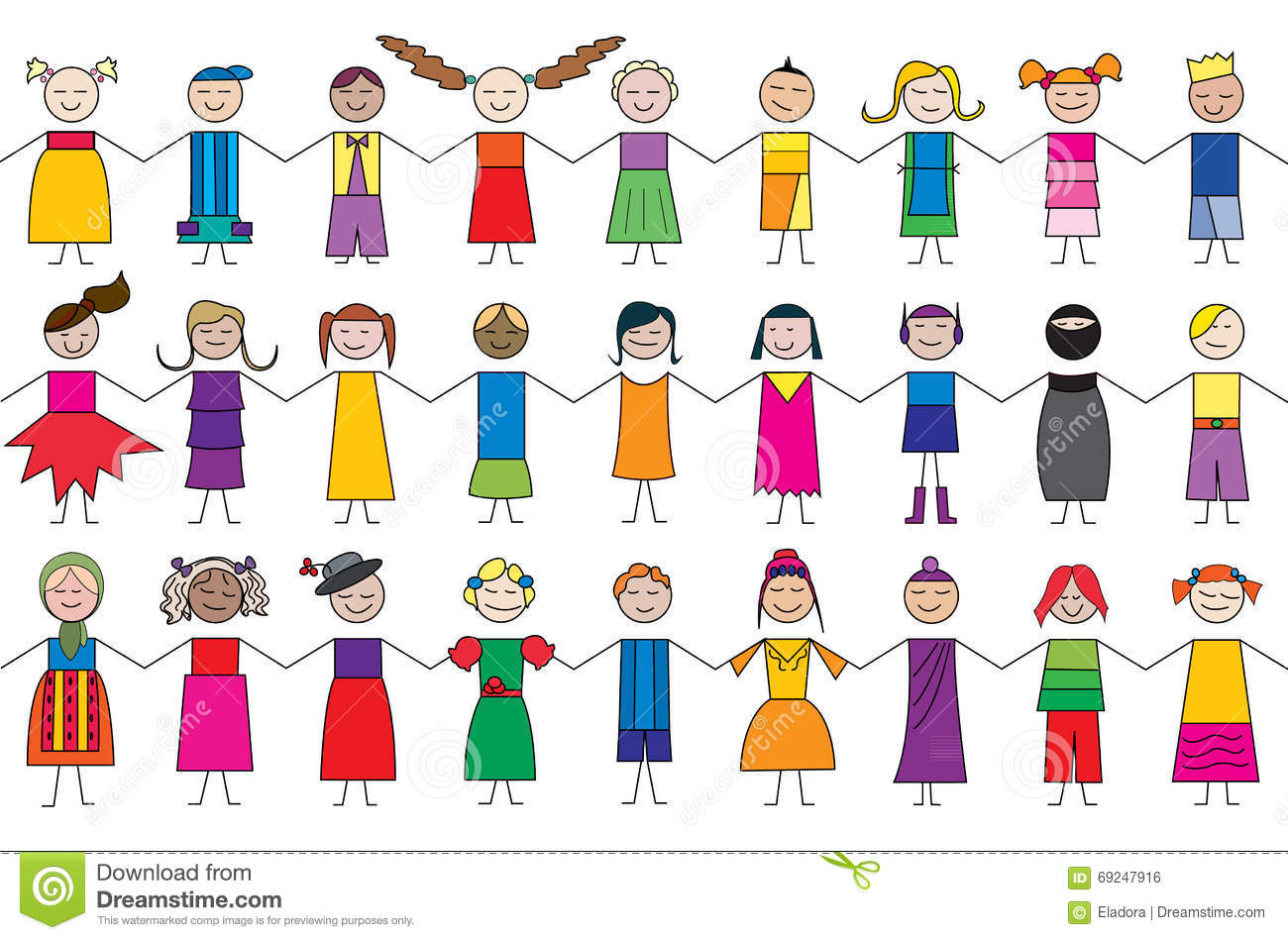 royalty free vector download child cartoon drawings
