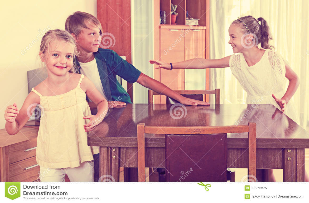 Child chasing other kids to tag or touch them