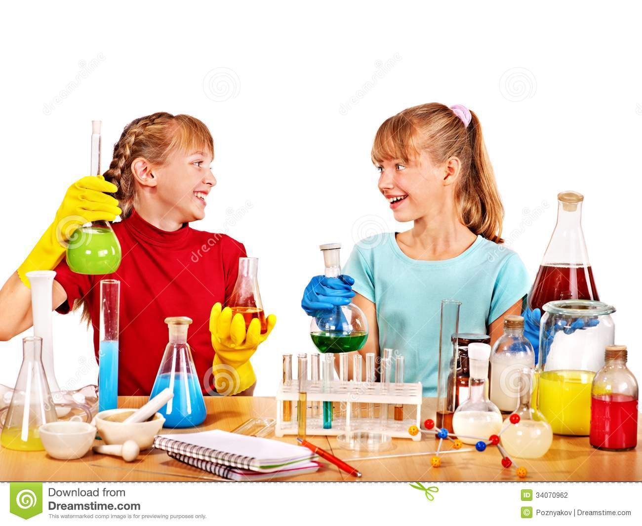 Child In Chemistry Class Stock Photography Image 34070962