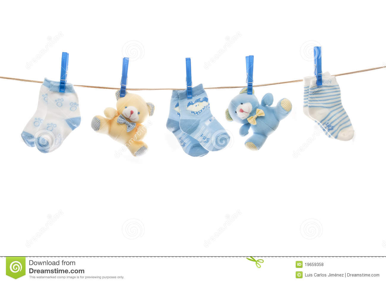 Child Clothesline Royalty Free Stock Photos - Image: 19659358