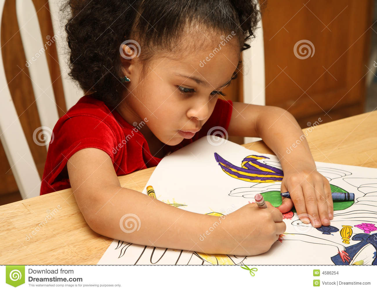 Child coloring stock photo. Image of little, face, expression - 4586254