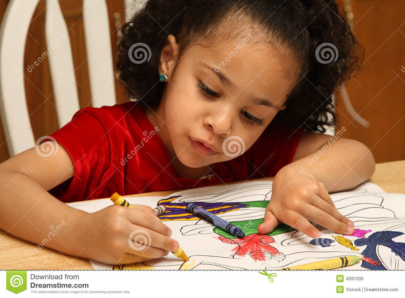 Child Coloring Royalty Free Stock Photo Image 4591205