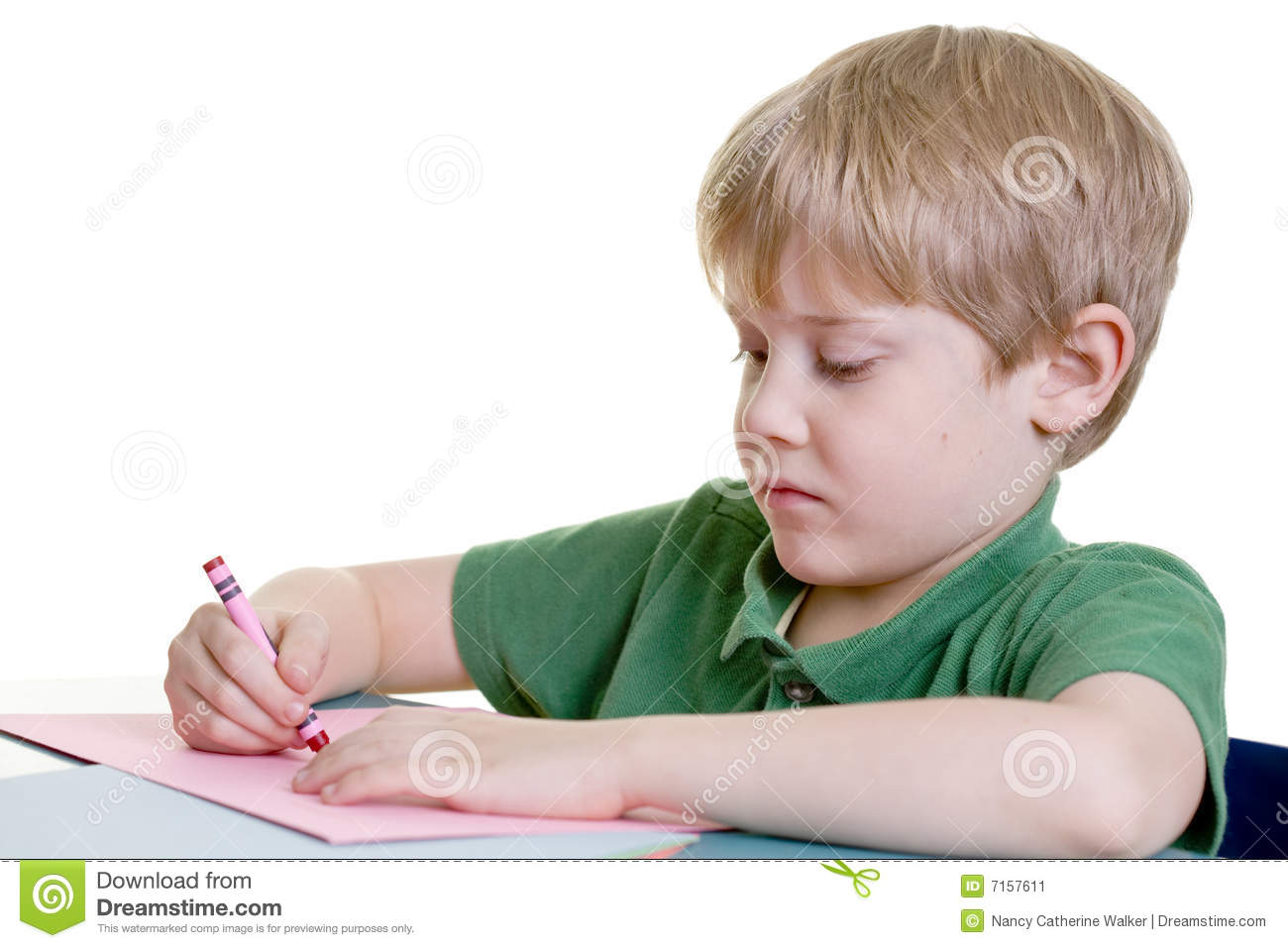 A child coloring stock image. Image of young, paper, drawing - 7157611