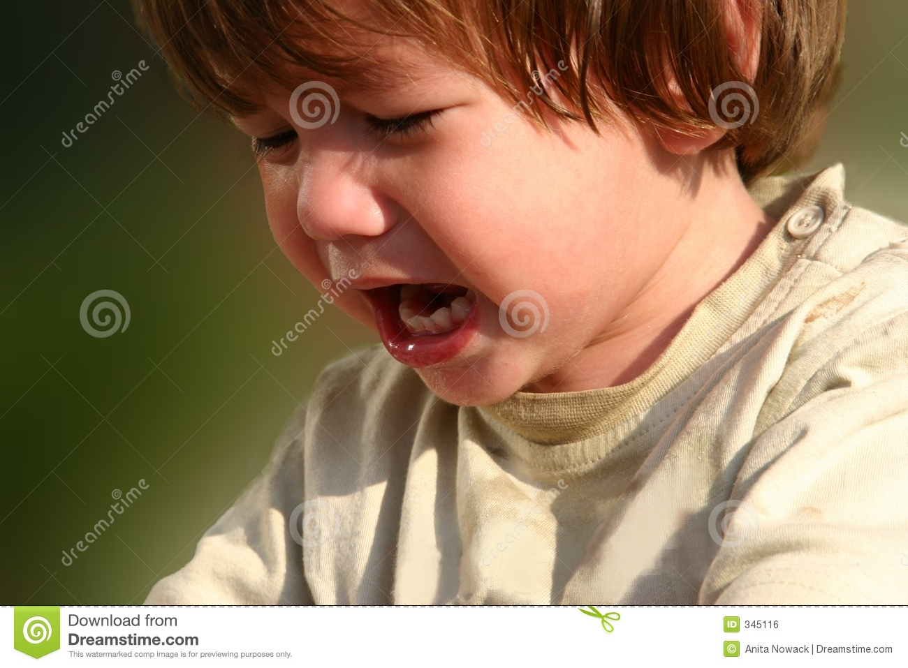 Child crying hungry