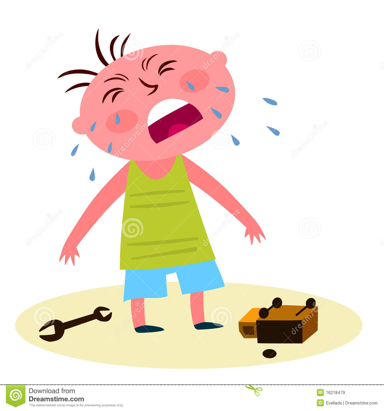 Child Crying Over A Broken Toy Royalty Free Stock Images - Image ...