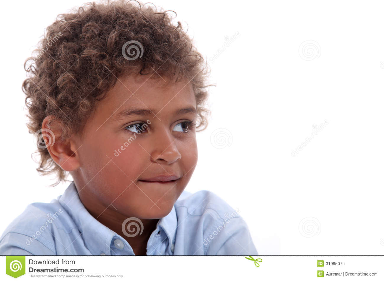 Child With Curly Hair Stock Image Image Of Biting Hair