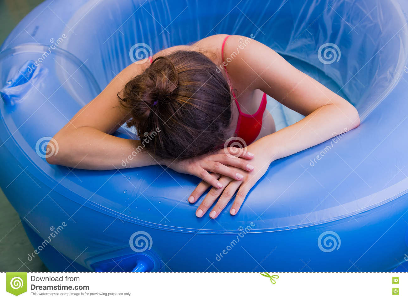 Child Delivery In Water Stock Photo Image 75994629