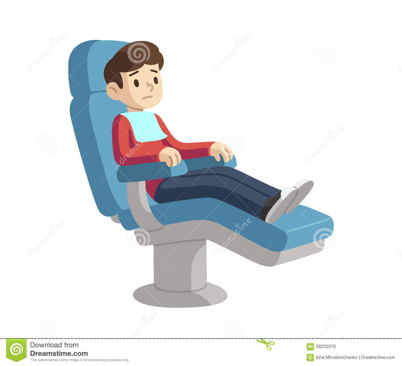 Child In Dentist Chair Stock Vector Image 58232370