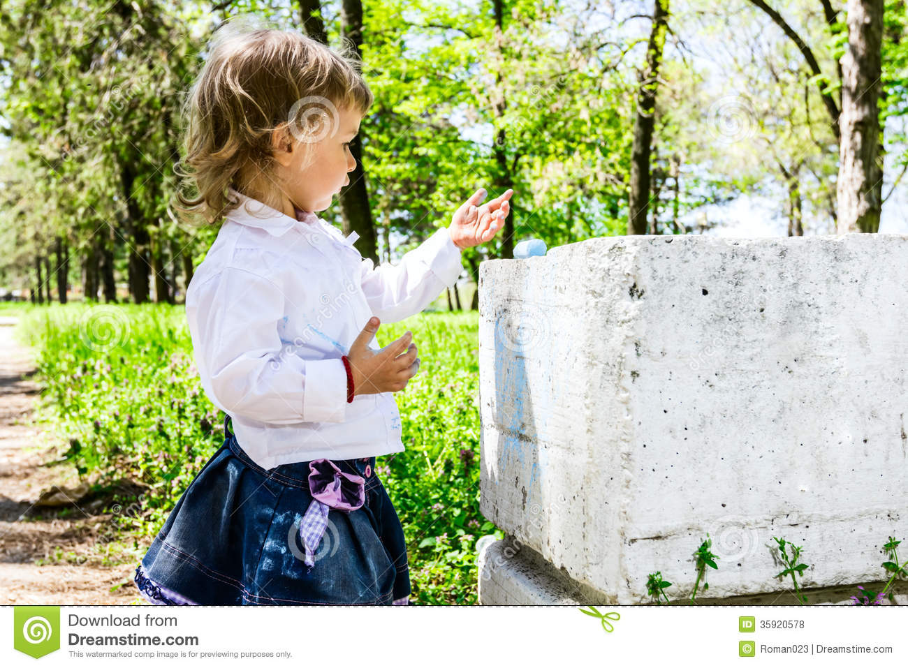Child With Dirty Hands Chalk Royalty Free Stock Photos ...