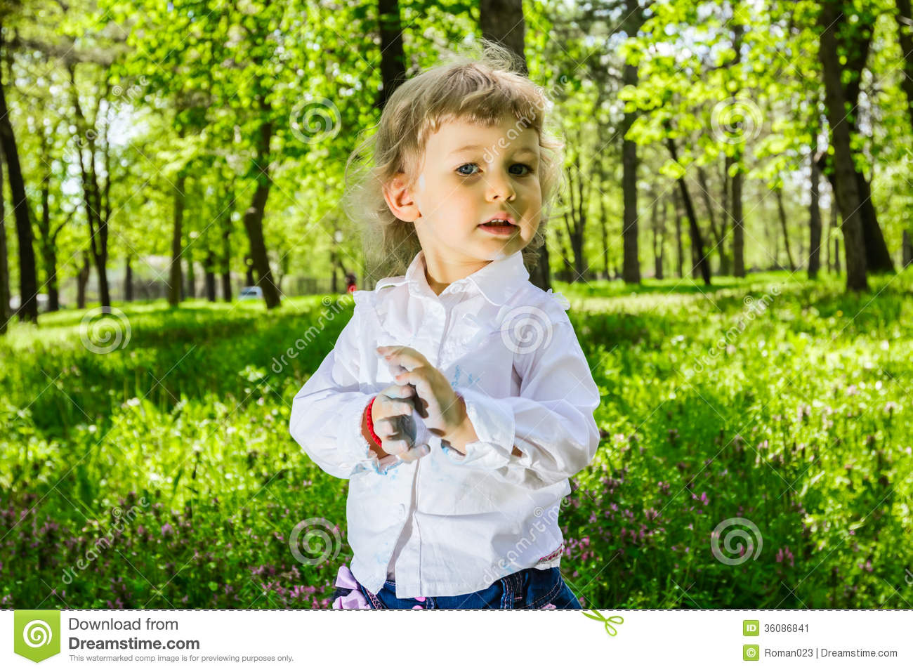 Child With Dirty Hands Chalk Stock Image - Image: 36086841