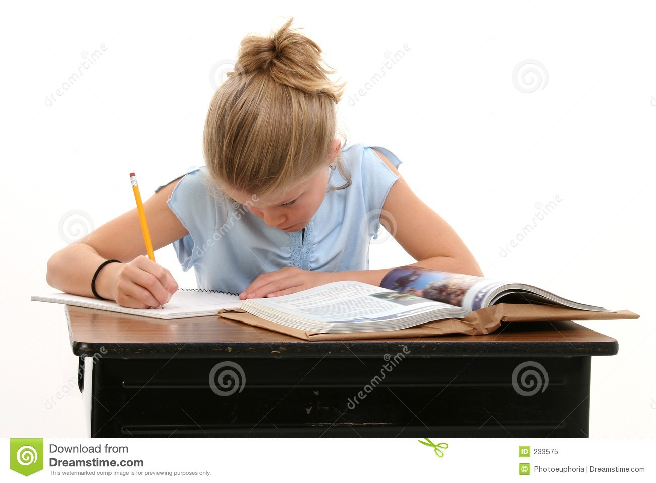 Child at Desk Doing Work 1300 x 957