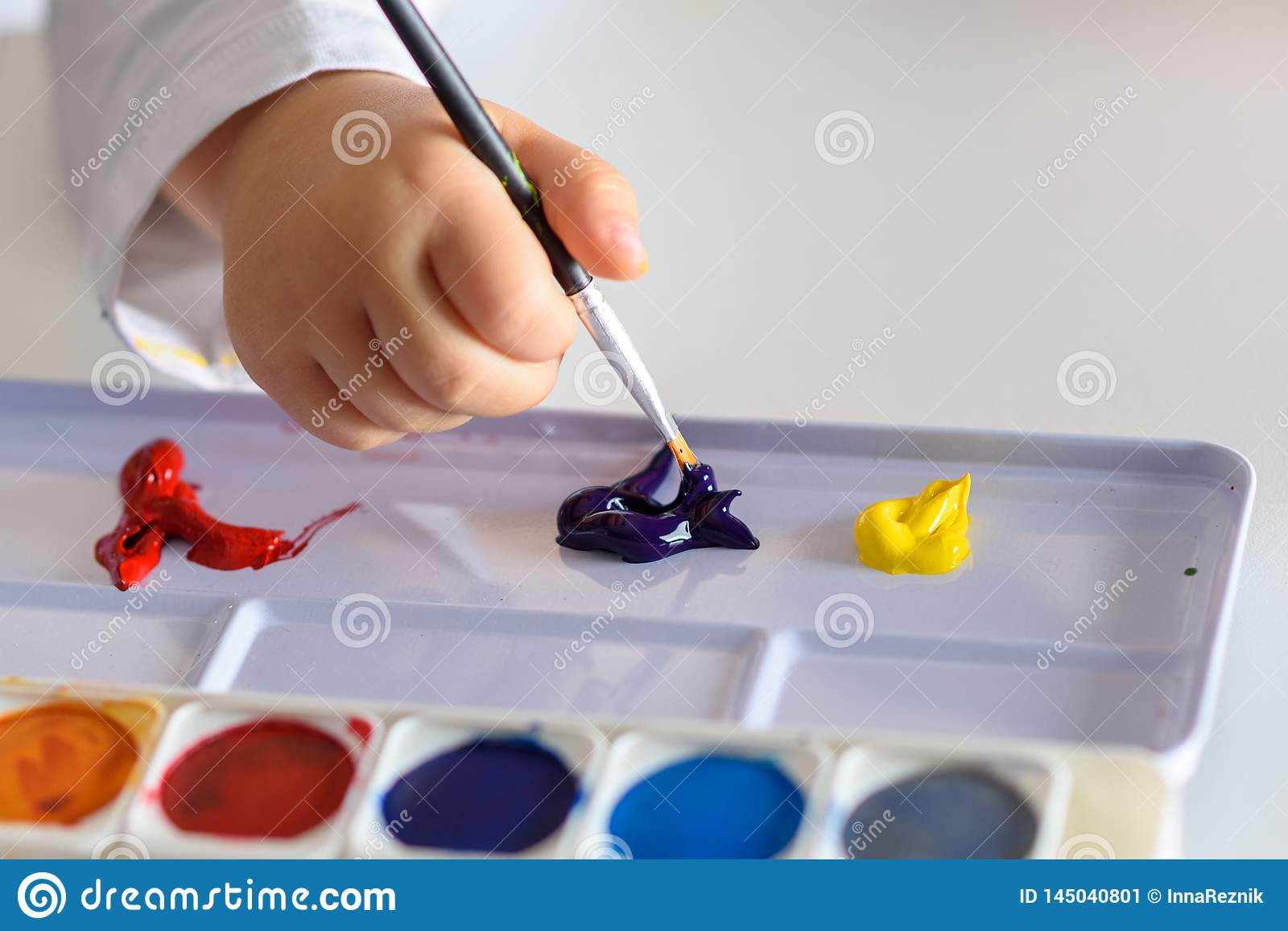 Child drawing with colorful colors.