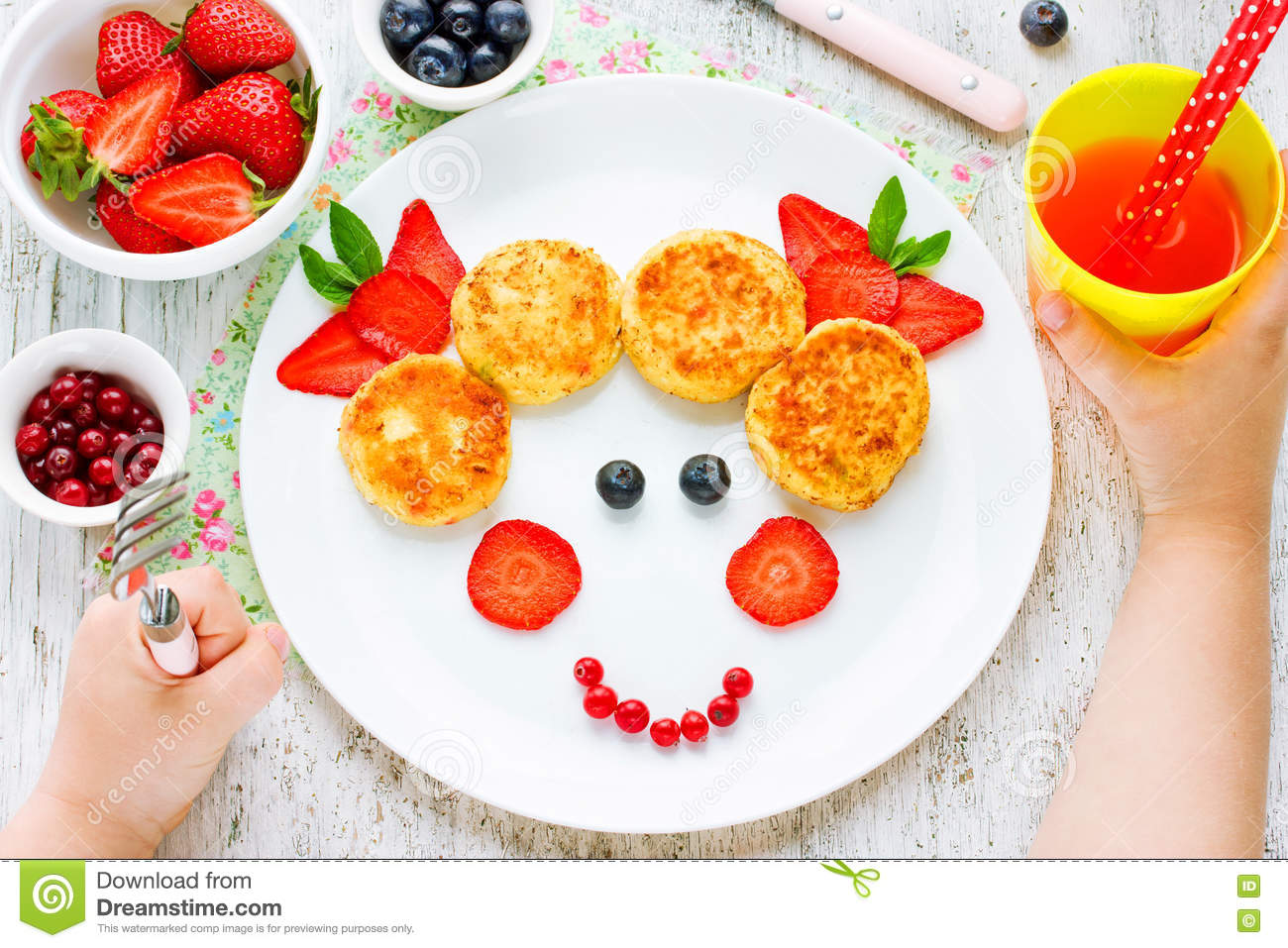 child eating breakfast concept fun food for kids picture from royalty free stock photography. Black Bedroom Furniture Sets. Home Design Ideas