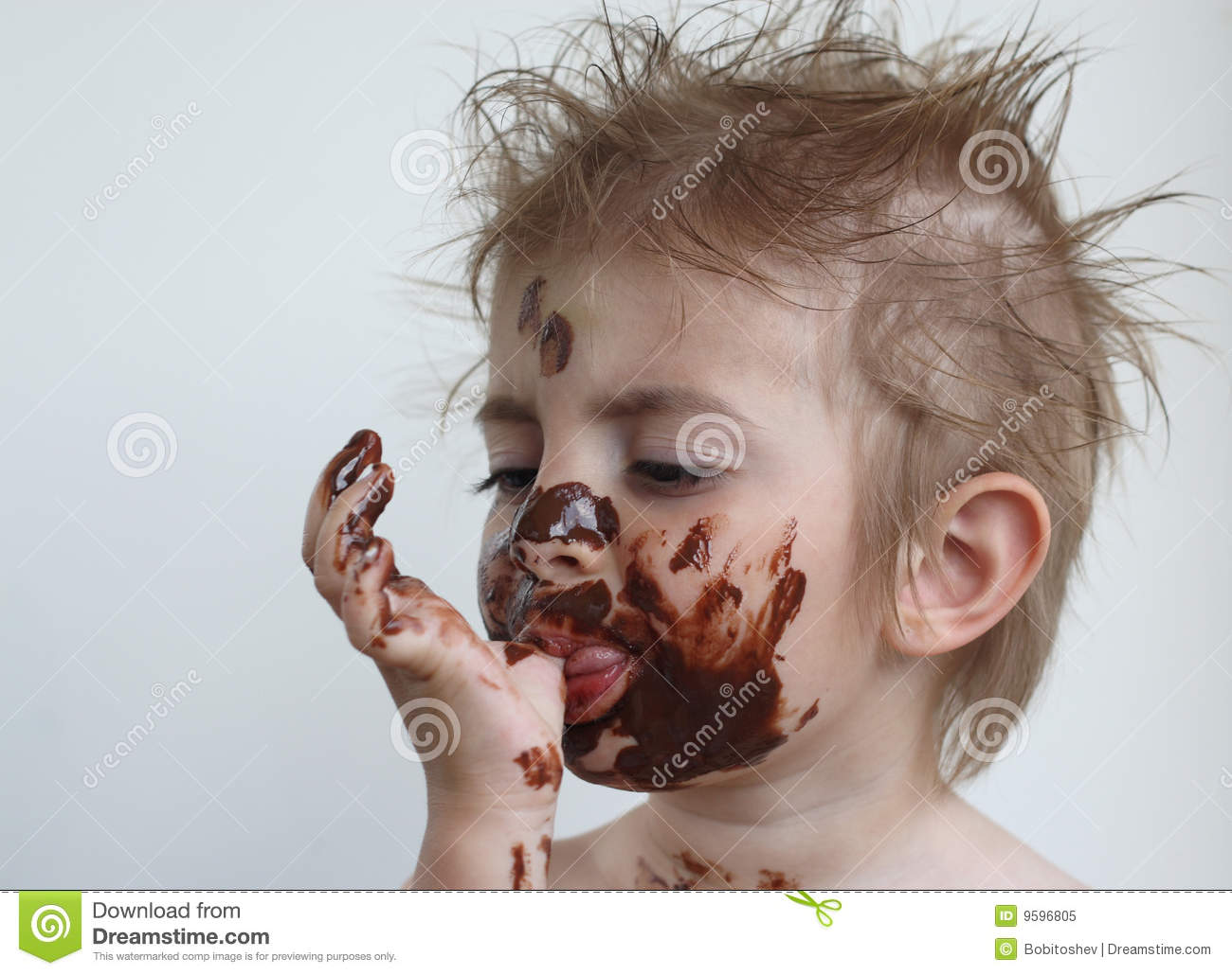 Child Eating Chocolate Royalty Free Stock Photo - Image: 9596805
