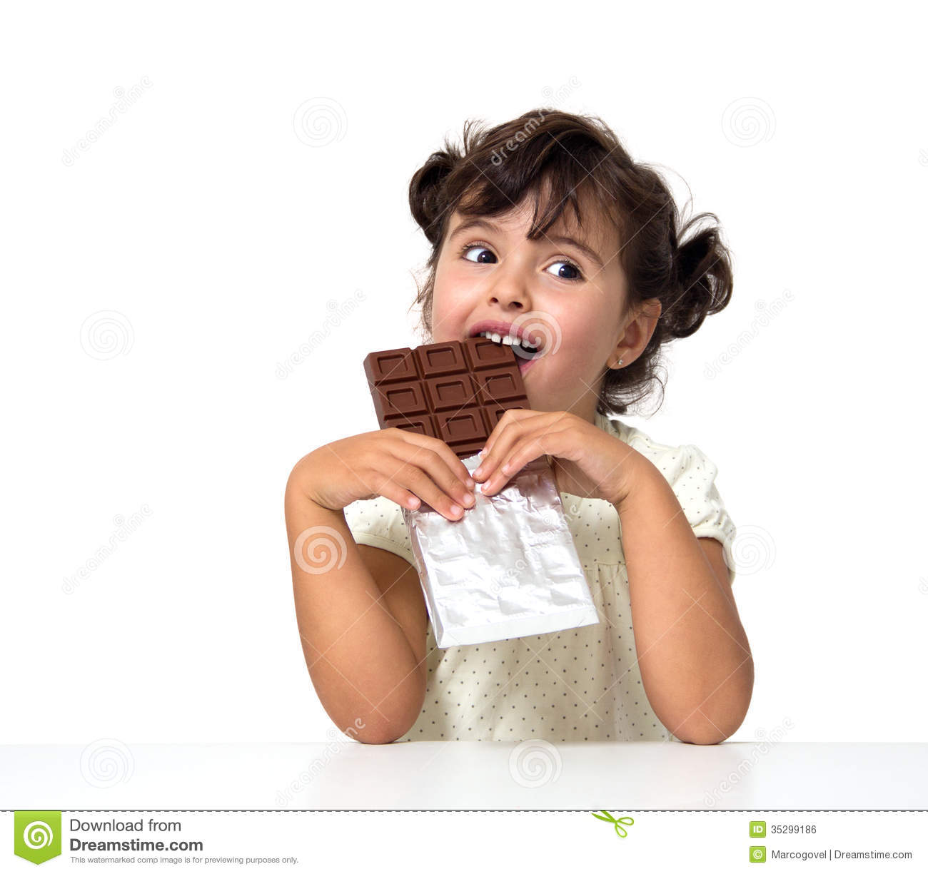 Child Eating Chocolate Royalty Free Stock Image - Image: 35299186