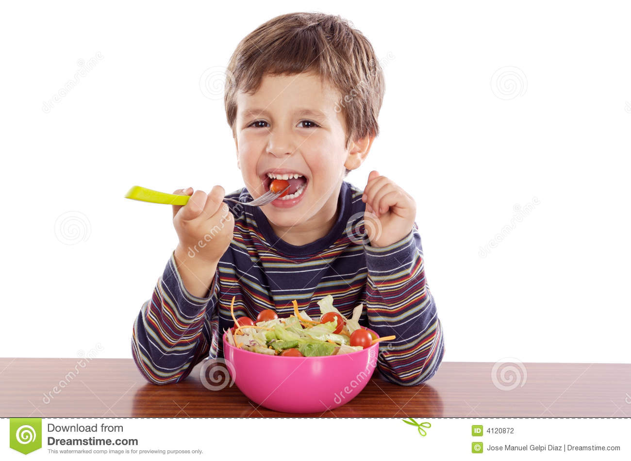 kid eating candy