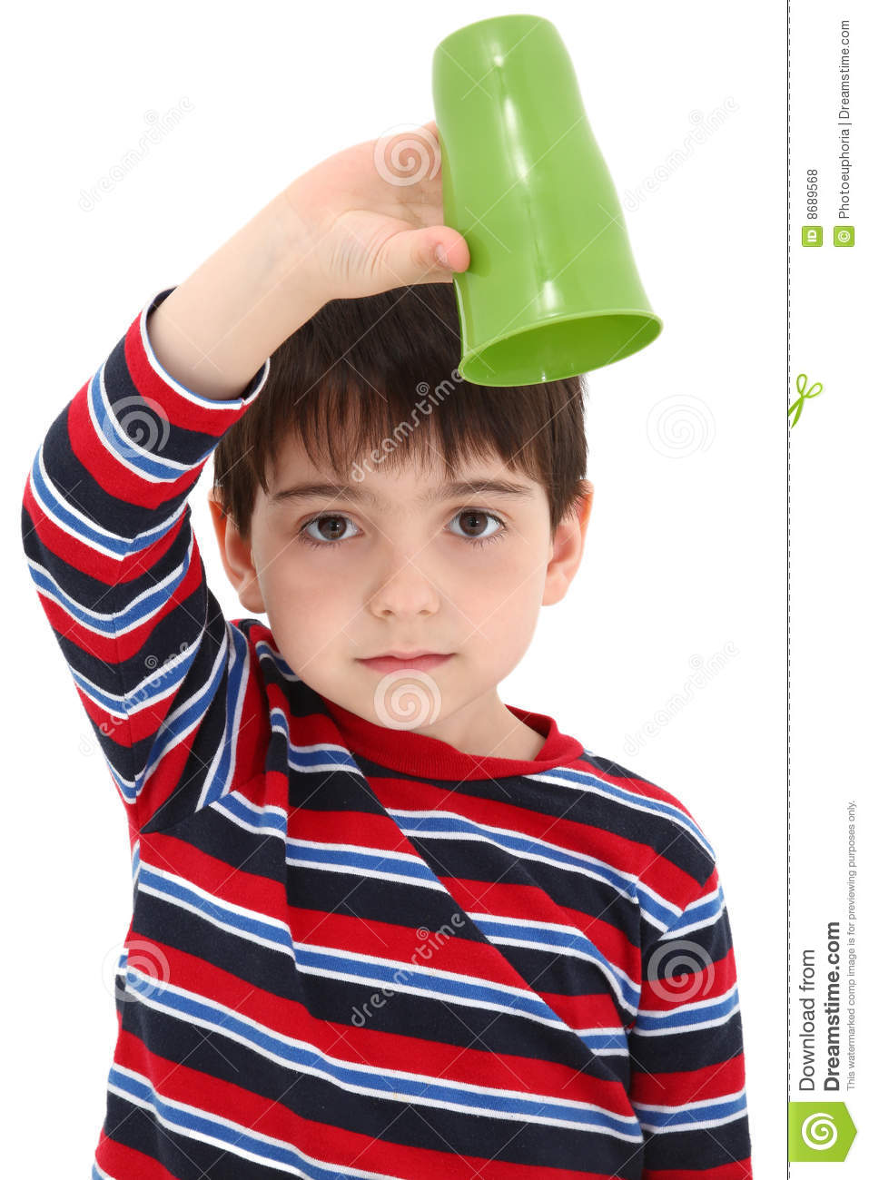 Child With Empty Cup Royalty Free Stock Photos Image