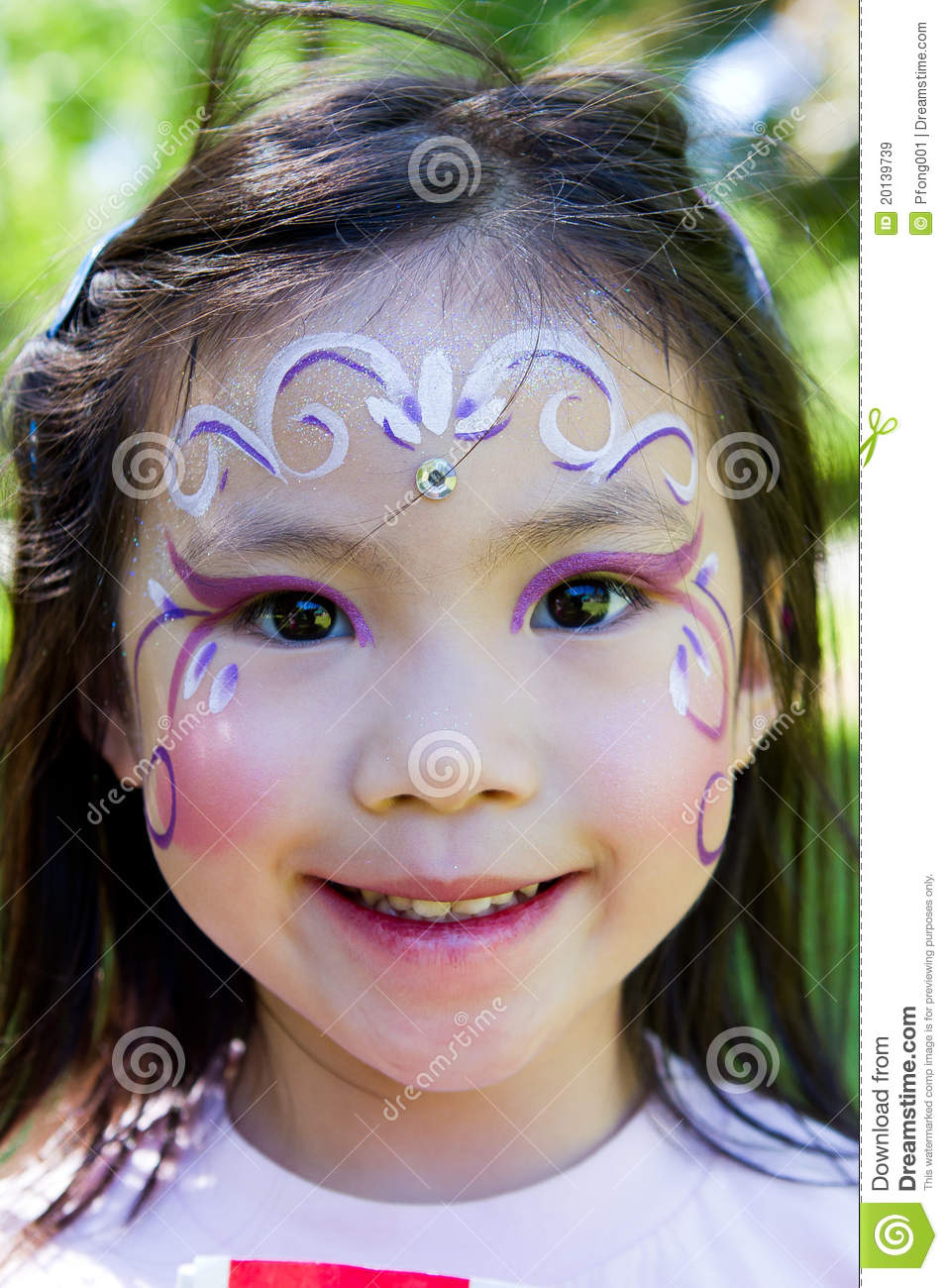Child Face Painting Royalty Free Stock Images Image