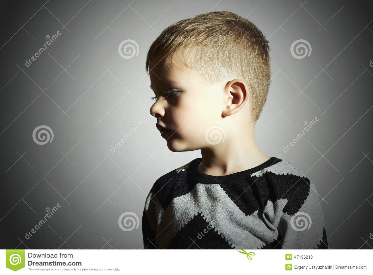 Child Fashion Kids Children Little Boy Profile Stock Photo
