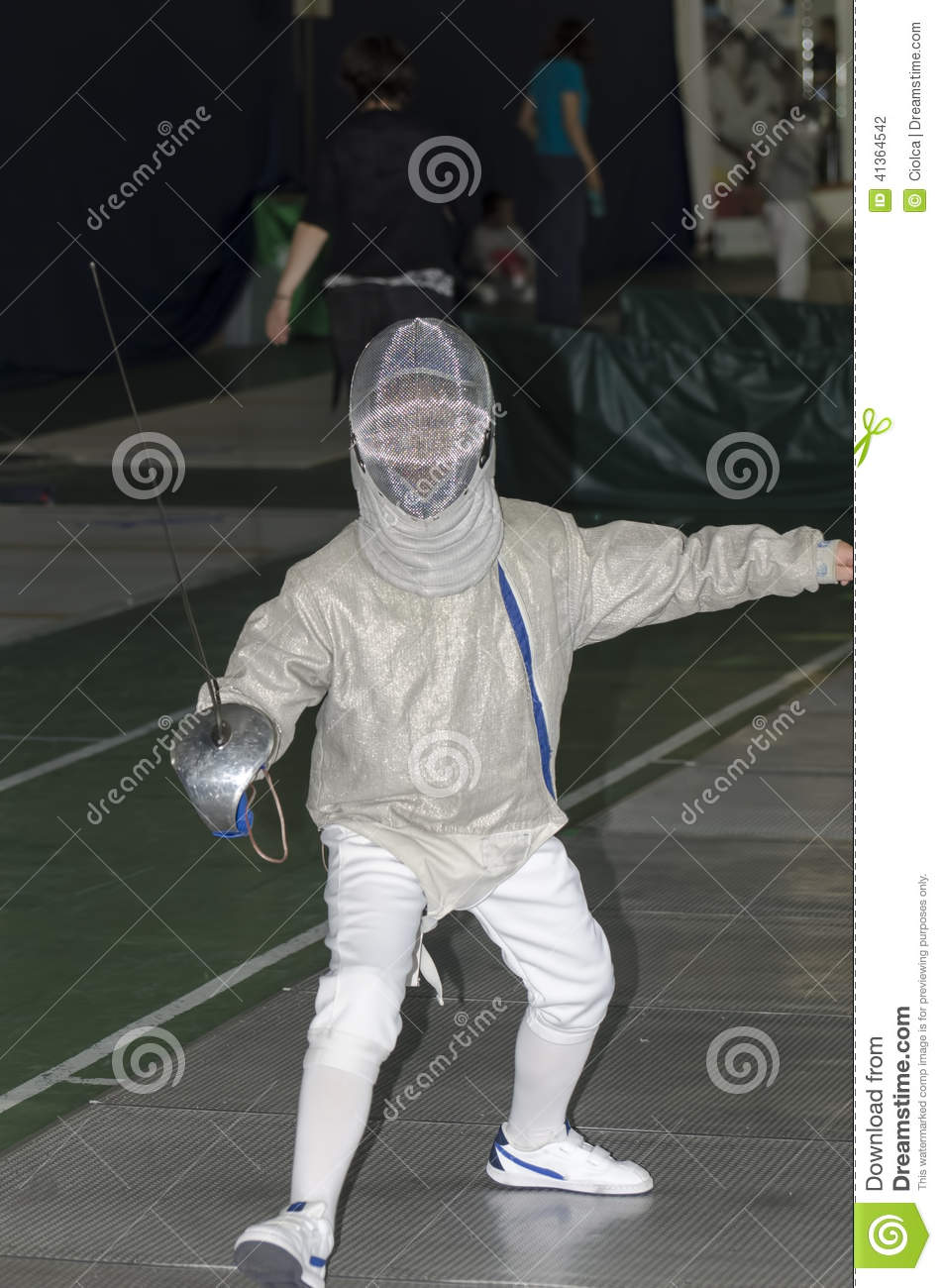 Child fencing with epee editorial photography  Image of