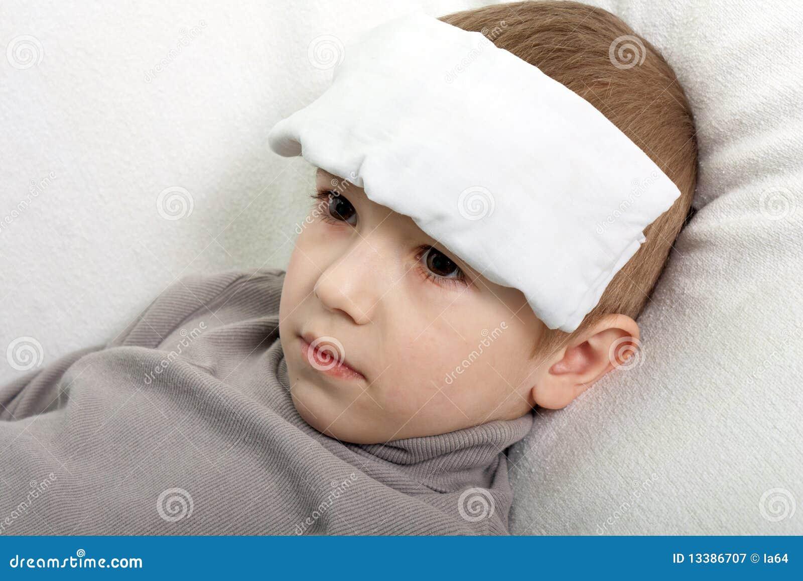 Child Fever Stock Image  Image Of Childhood  Lifestyle