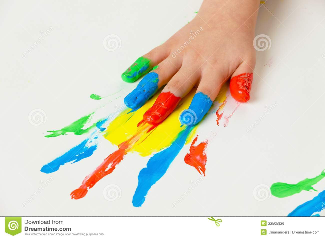 child with finger paints colors royalty free stock image - image