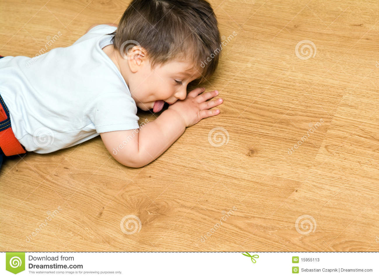 Child on floor stock photos image 15955113 for Hardwood floors and babies