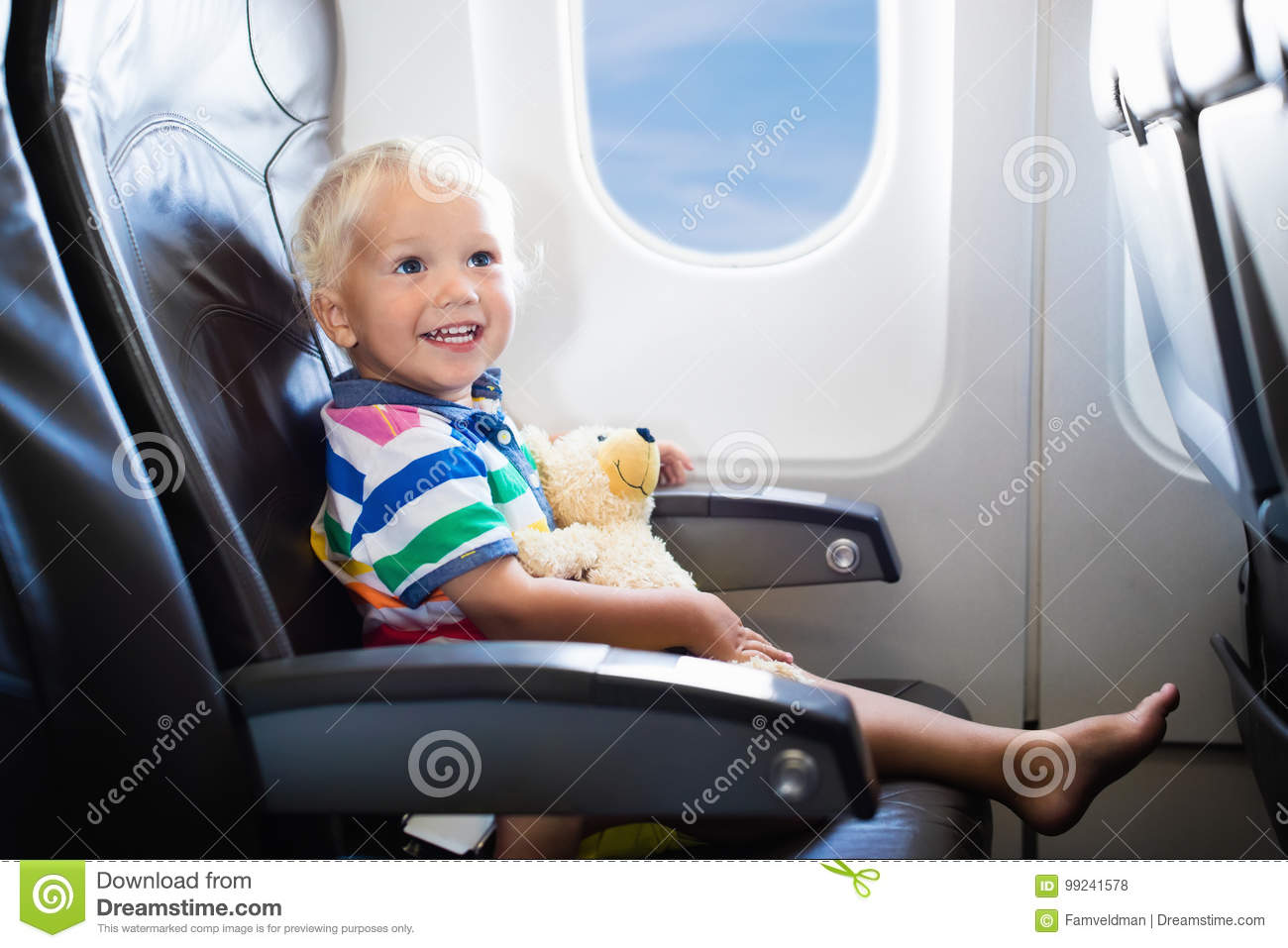 Child Flying In AirplaneFlight With Kids