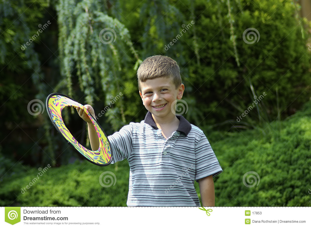 Child With Frisbee