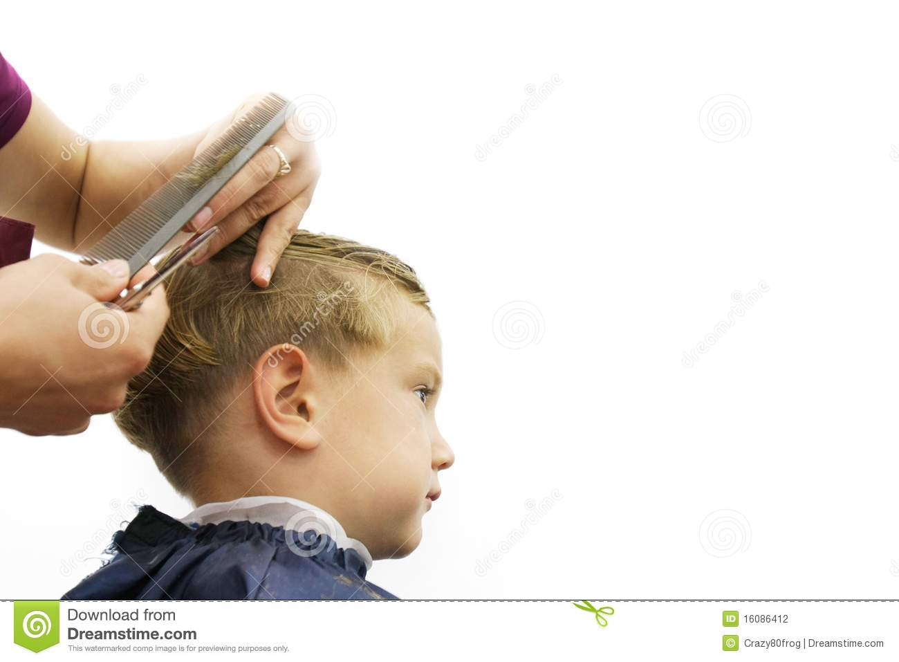 Child Getting Haircut Stock Photo Image Of Portrait