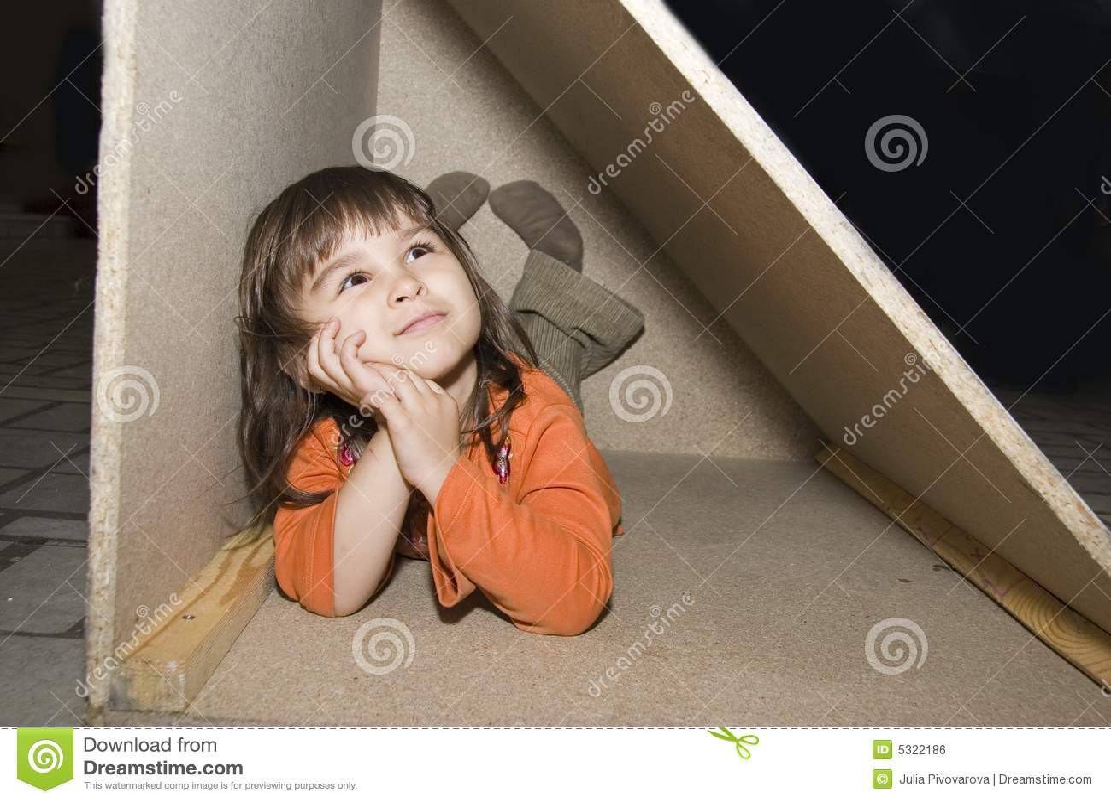 Child Girl Hiding In W...