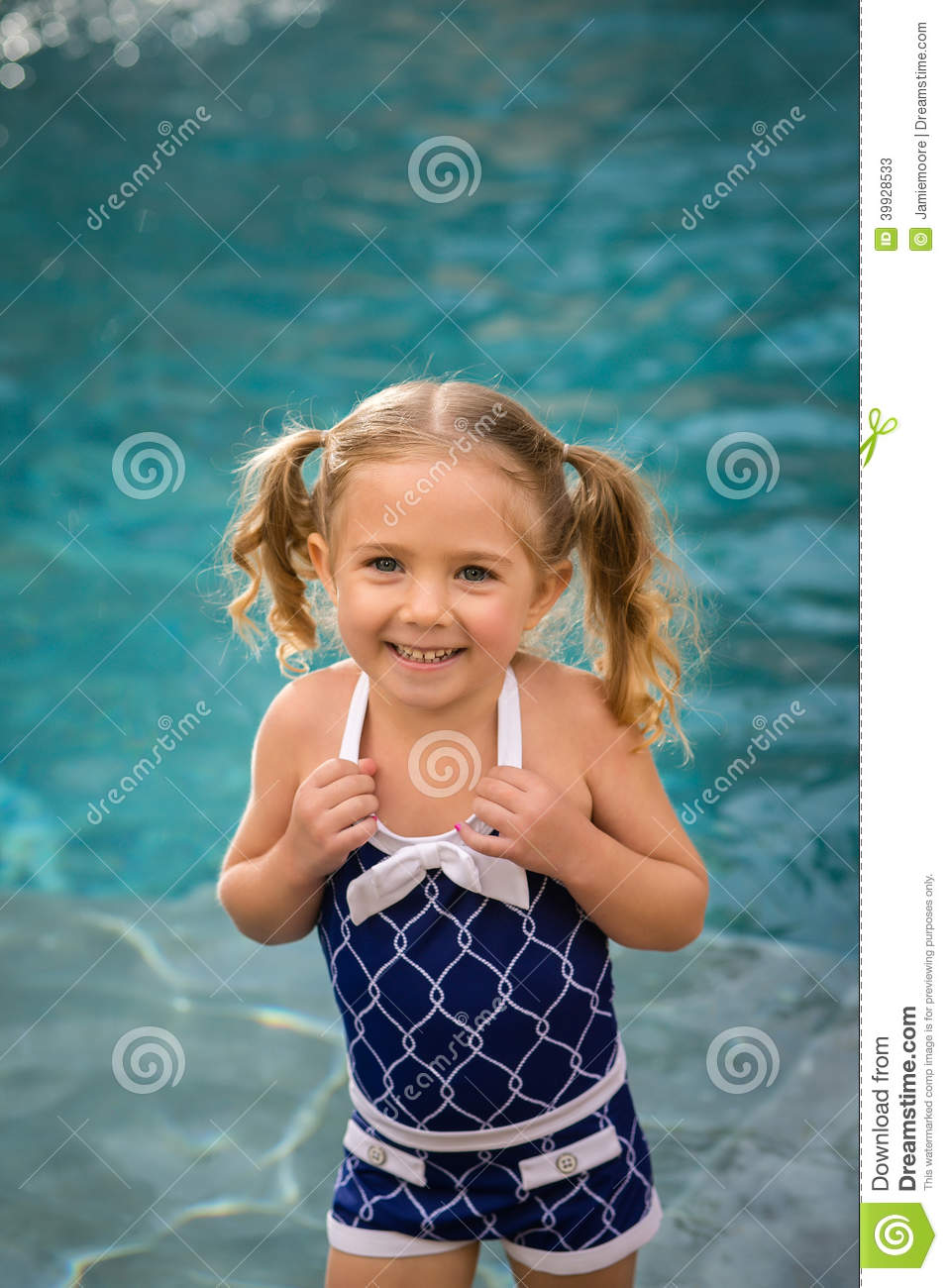 1ebe3aa10f88c Child girl swimsuit water stock image. Image of blue - 39928533