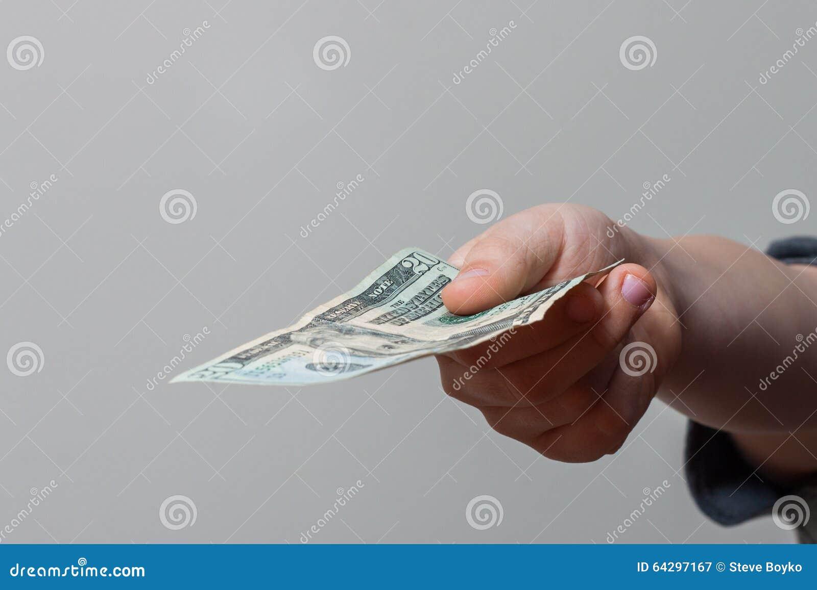 Child Giving Money