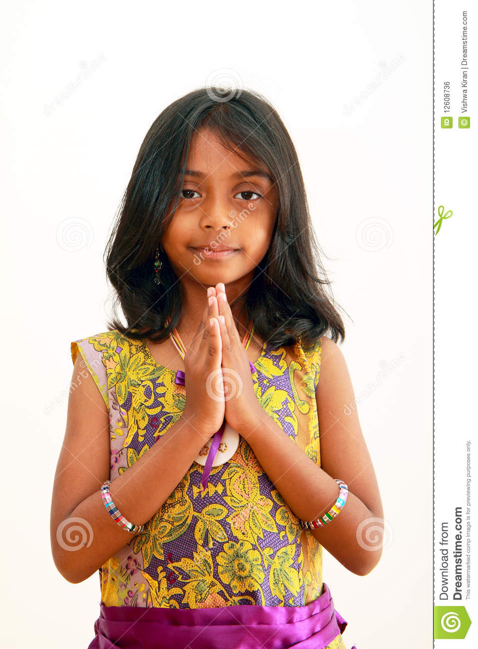 indian greeting welcome child traditional namaste asian smile hindu preview