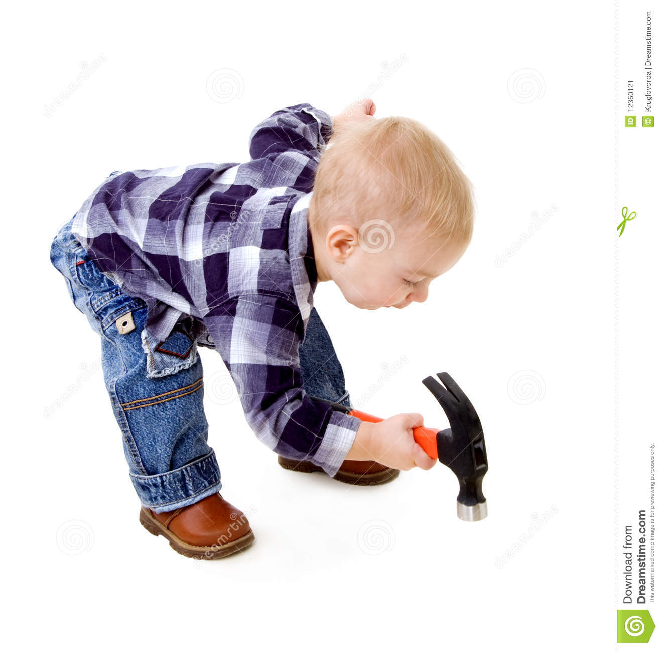 Child With A Hammer Stock Image Image 12360121