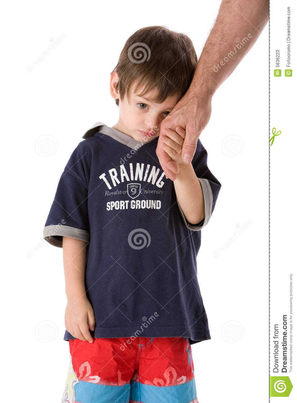 Child hand with dad
