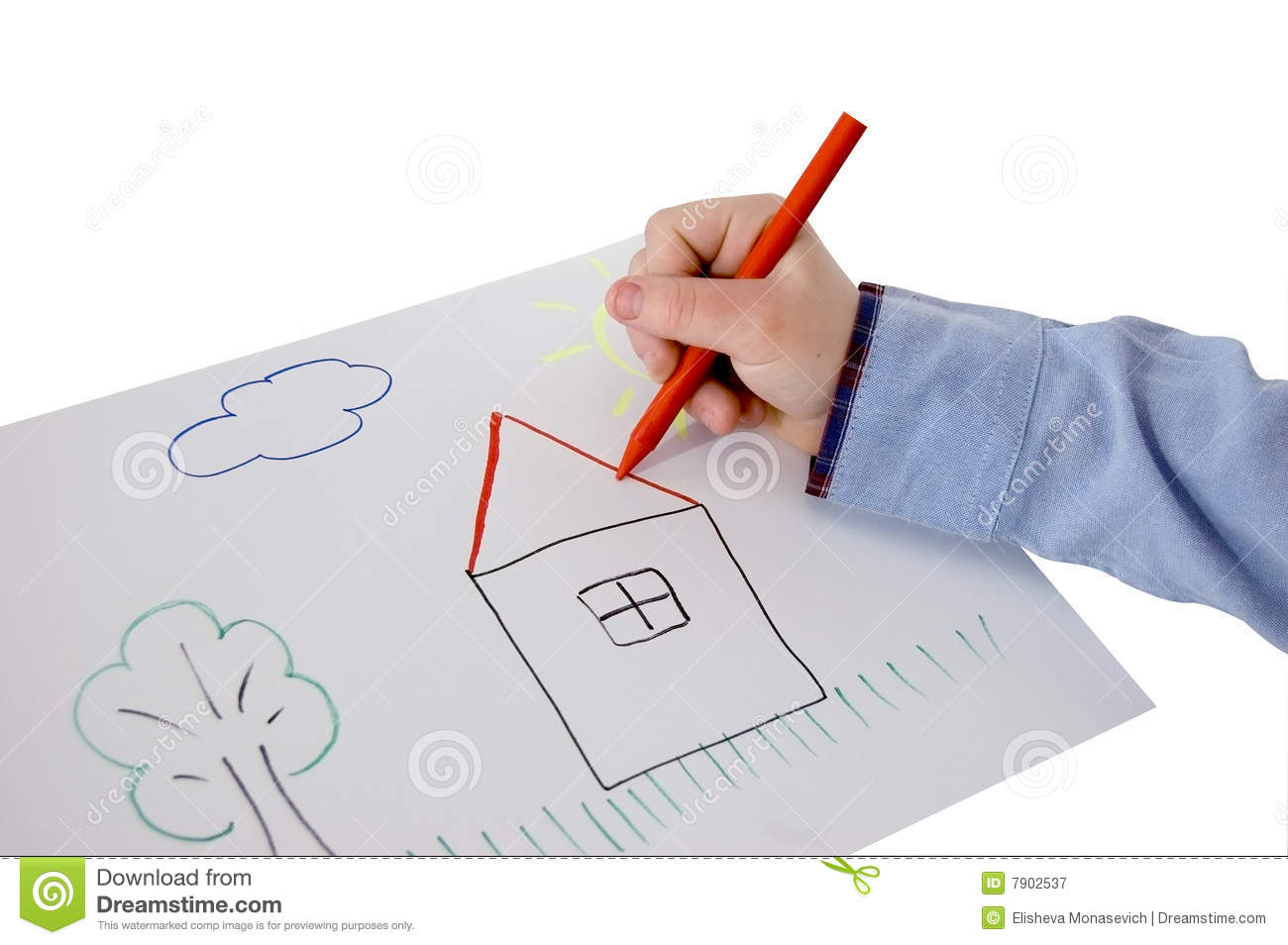 Child Hand Drawing A Picture Royalty Free Stock Photography - Image ...