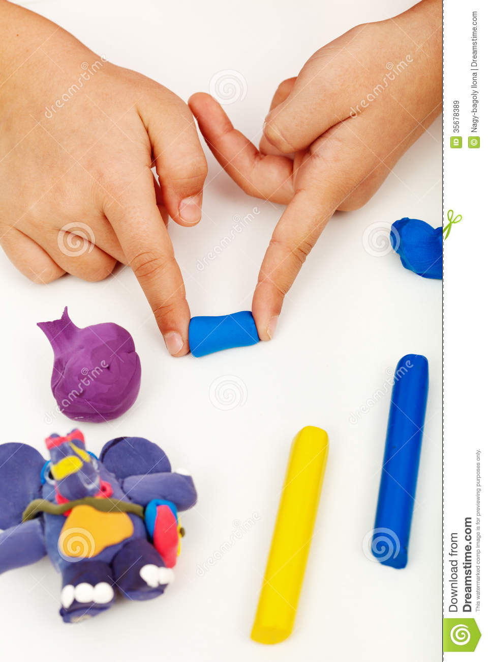 Child Hands With Colorful Clay Stock Image - Image of ...