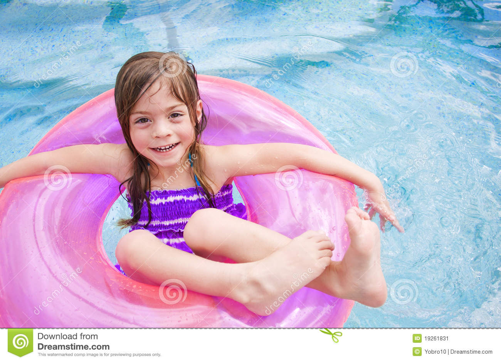 Child Enjoying Playing In The Swimming Pool Royalty-Free ...