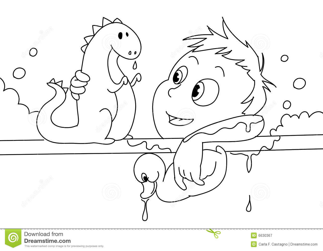 Child Having A Bath Bw Royalty Free Stock Photography