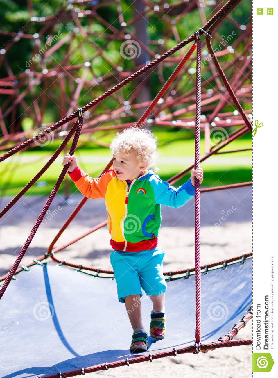 child having fun on school yard playground stock image image of