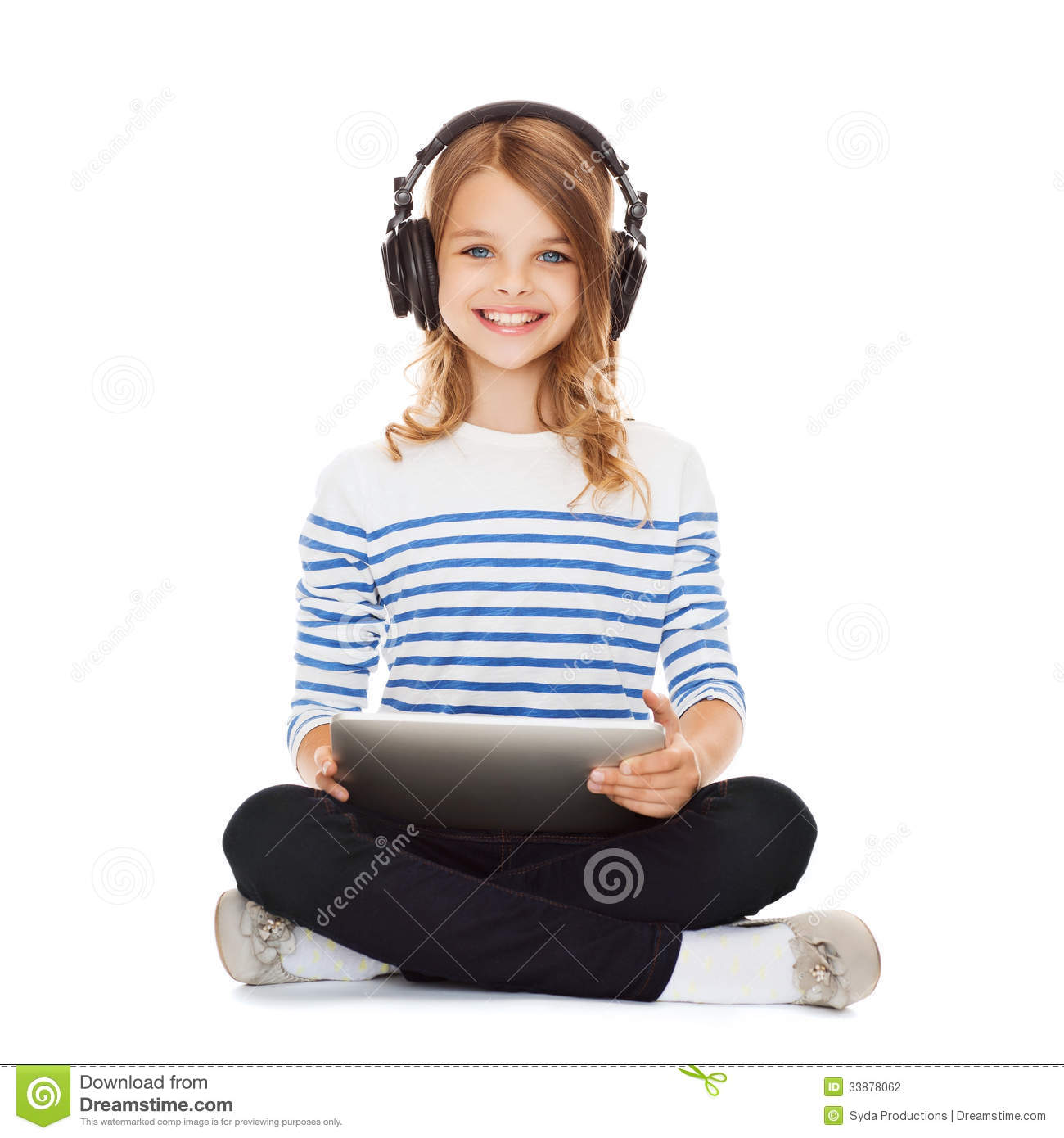 Tune Up Prices >> Child With Headphones And Tablet Pc Stock Photography - Image: 33878062