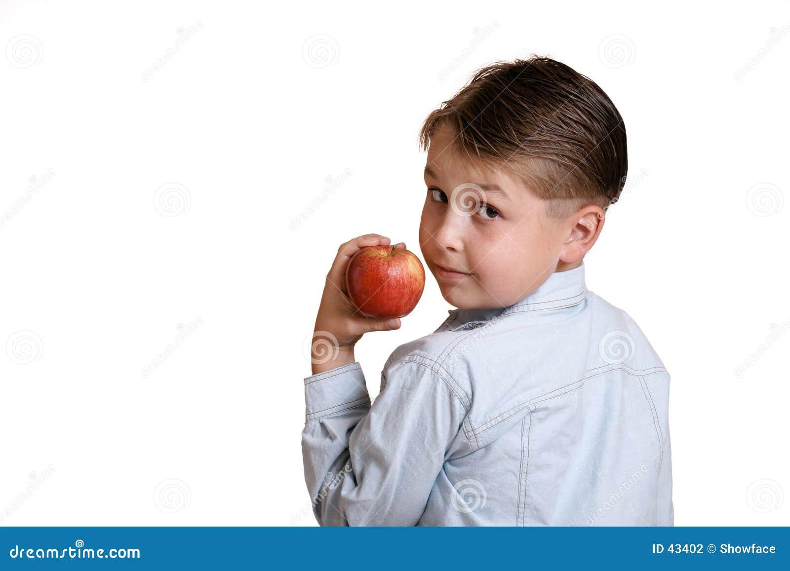 Child holding fruit