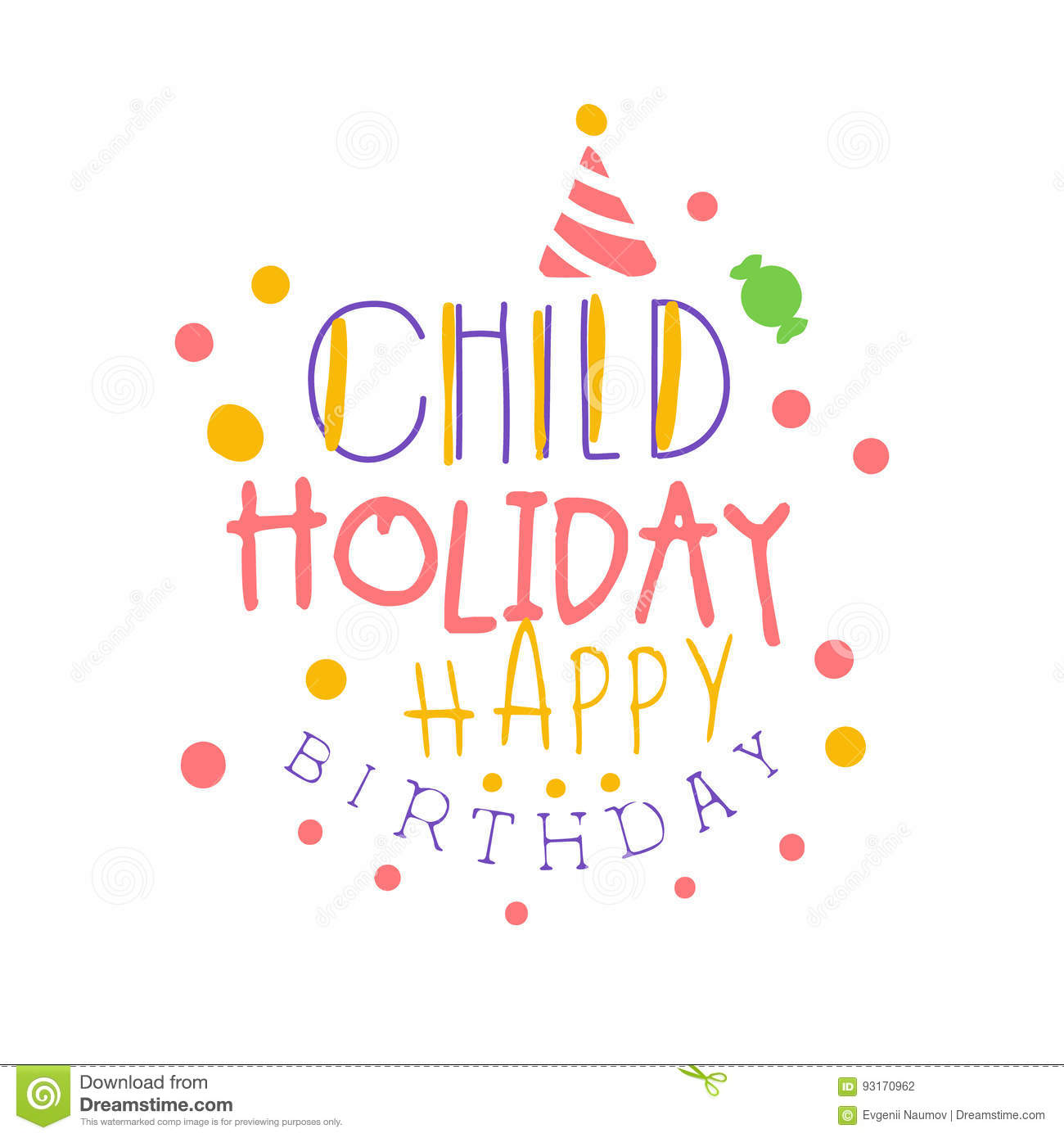 Child holiday happy birthday promo sign childrens party colorful download child holiday happy birthday promo sign childrens party colorful hand drawn vector illustration stock stopboris Image collections