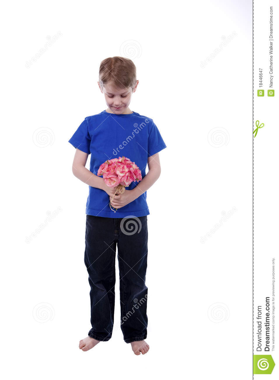 Child holidng Flowers