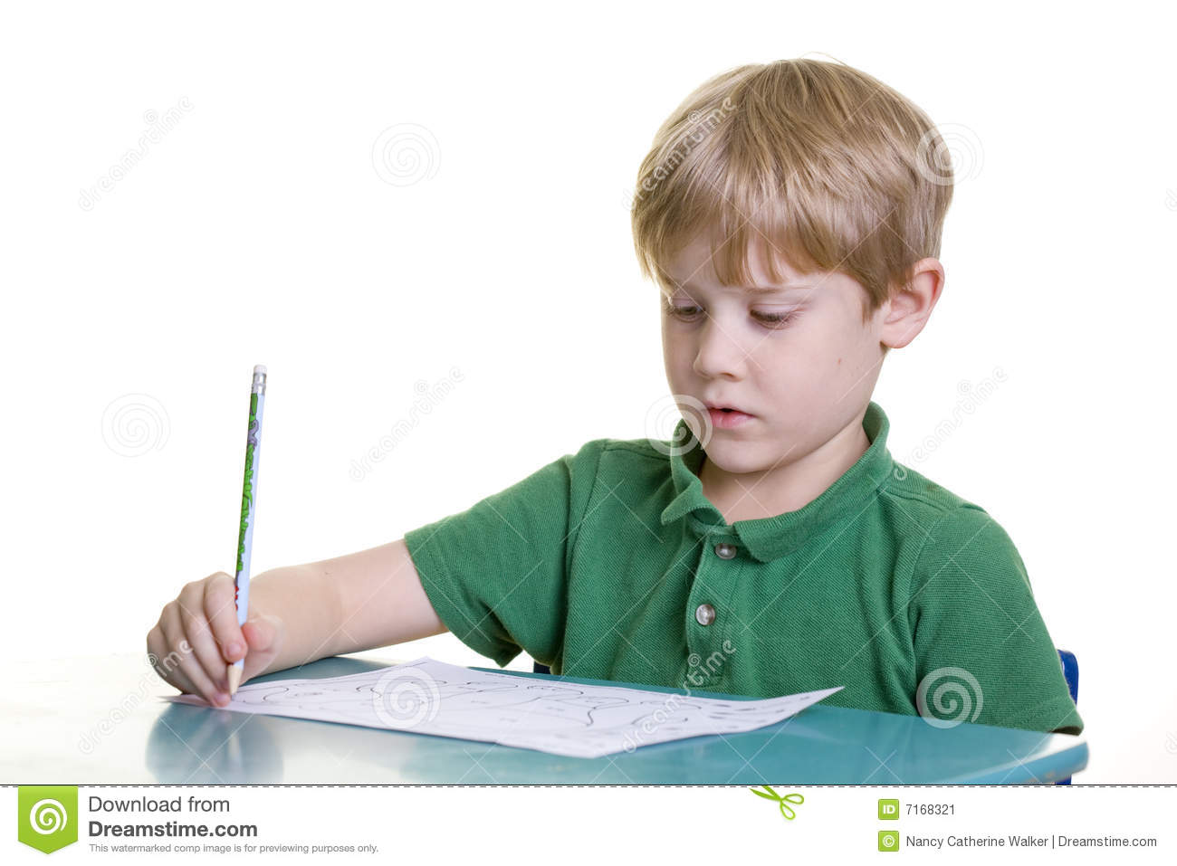 Child with homework